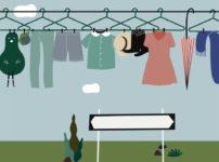洗濯物干しのサムネイル